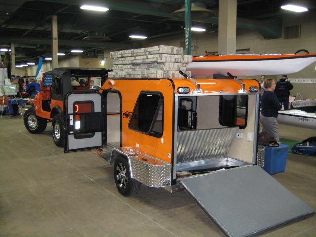 Popular Enclosed Camping Trailers : Simple Orange Enclosed Camping  VJ55